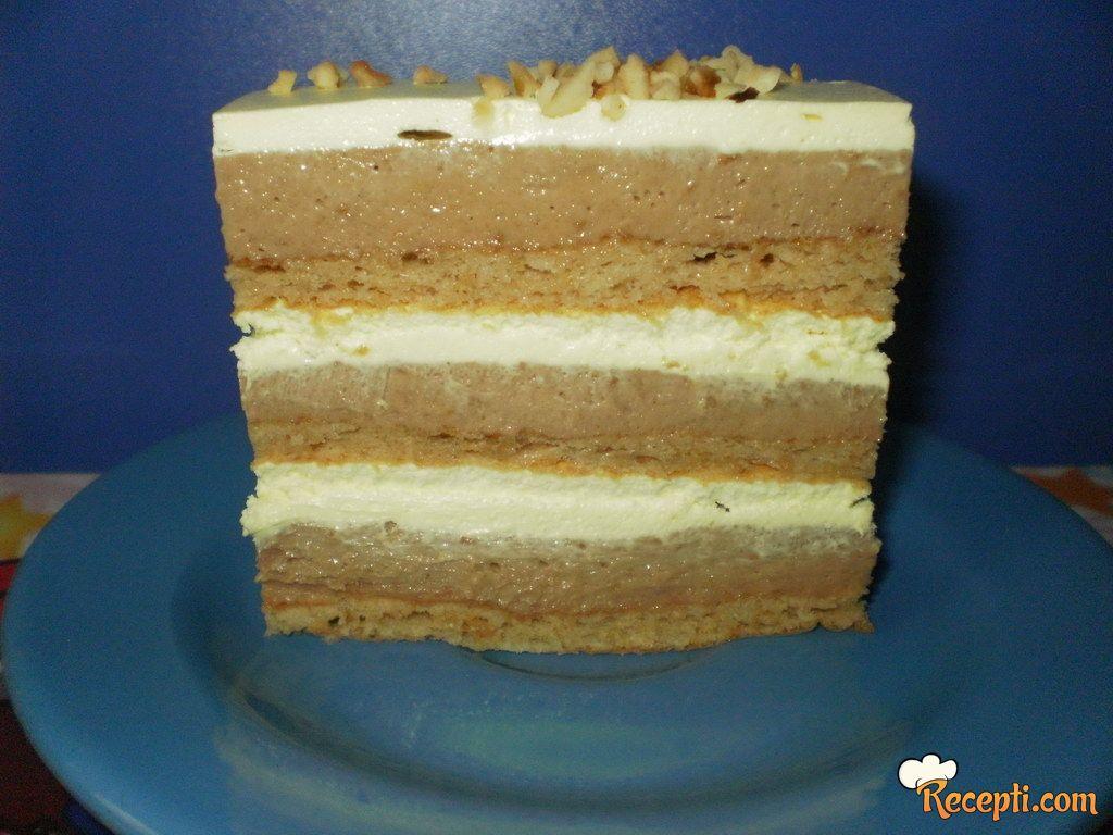 Plazma torta (sa korama i krem šlagom od vanile)