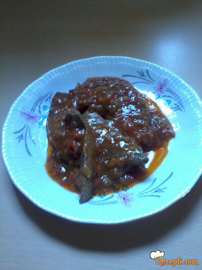 Zečija džigerica u pikantnom sosu