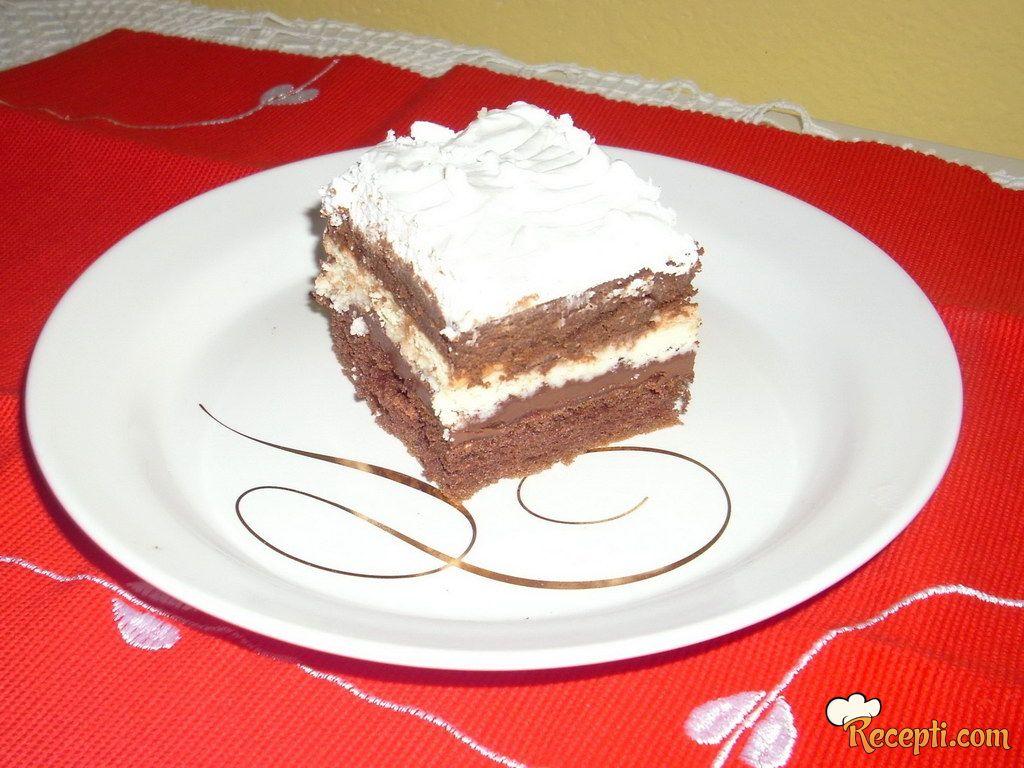 Kolač sa slatkom pavlakom i čokoladom