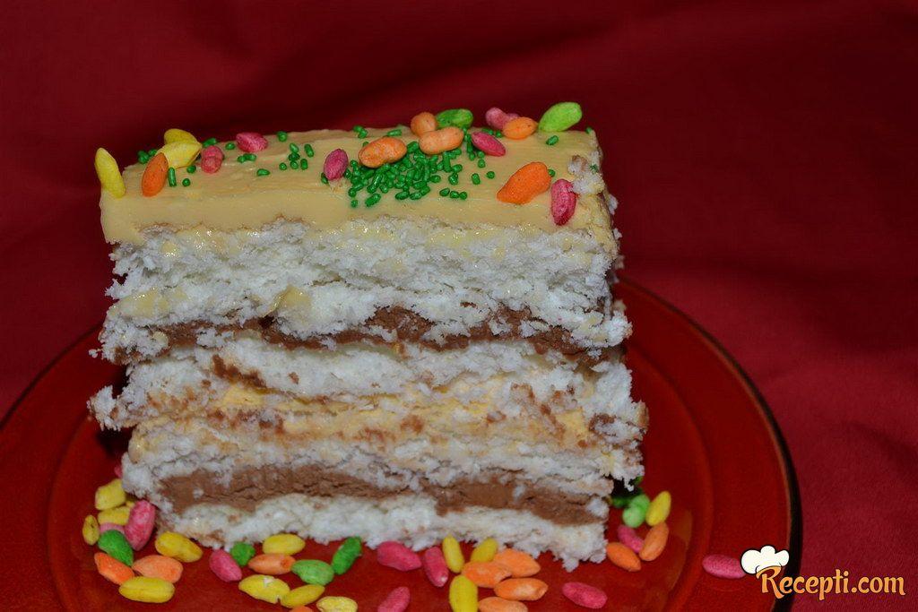 Kokos torta sa tri ukusa