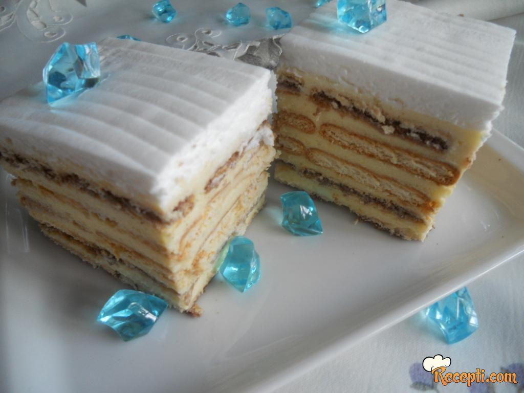 Keks creme brulee tortica