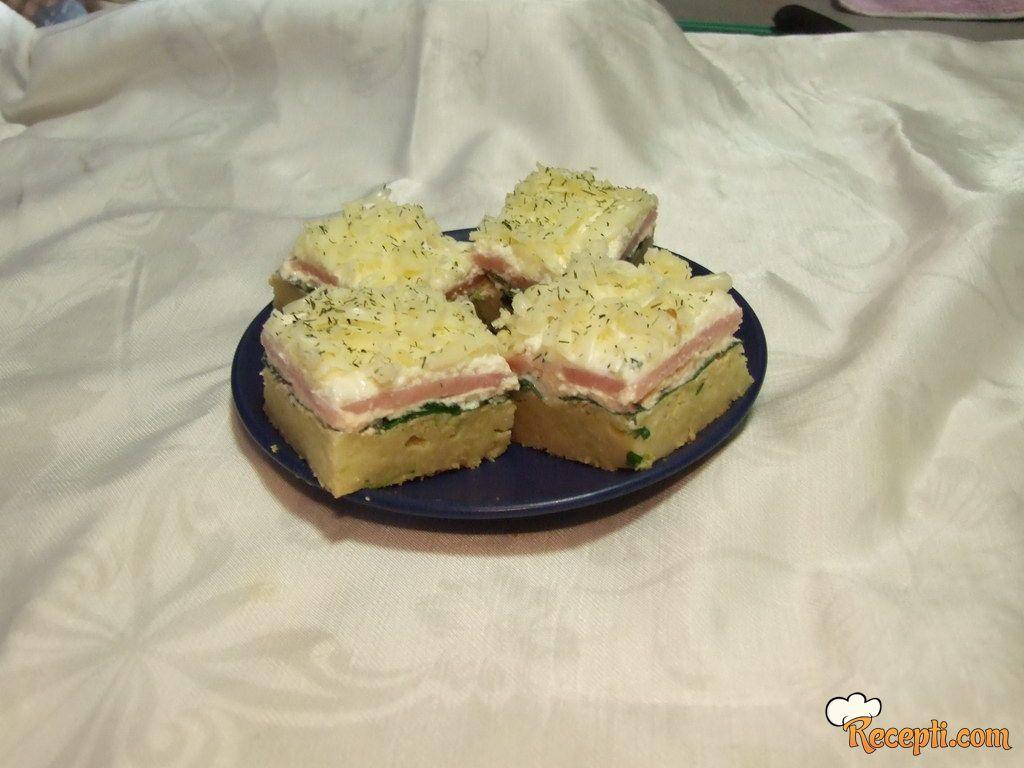 Slani kolač sa tikvicama