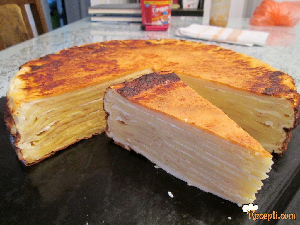 Prelivena pita sa palačinkama