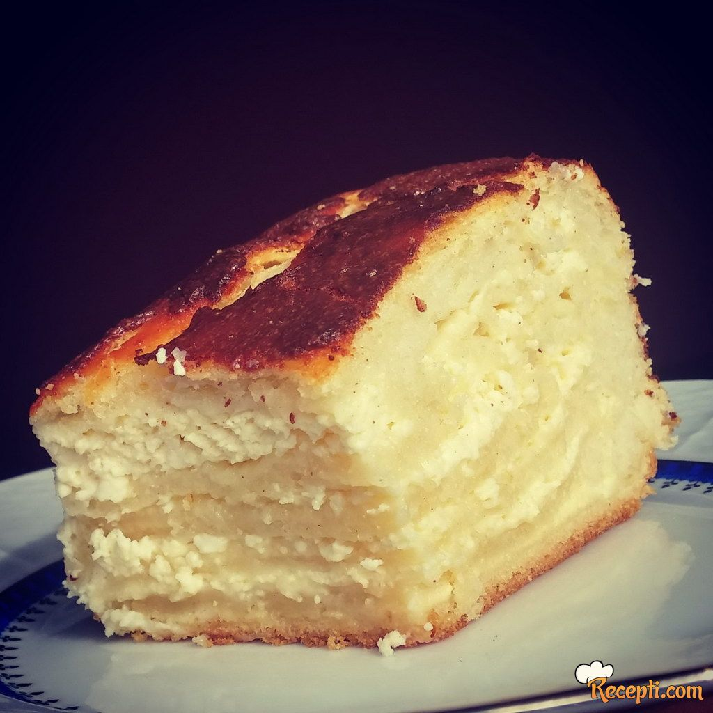 Gibanica sa sirom od kvasnog testa