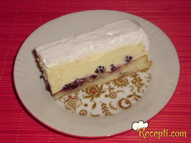 Krem torta sa kupinama