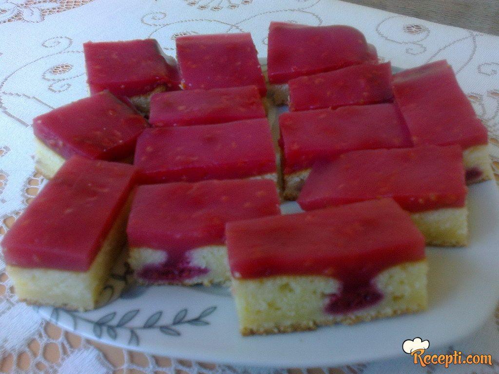 Lagani kolač sa malinama