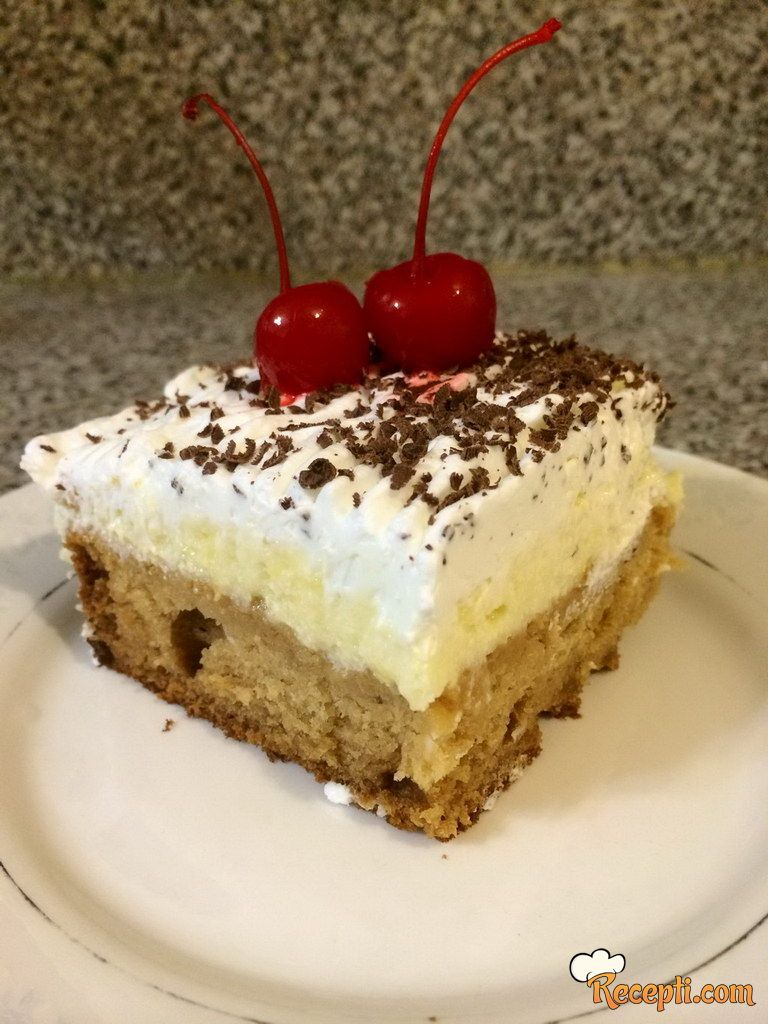 Kremasti kolač bez jaja