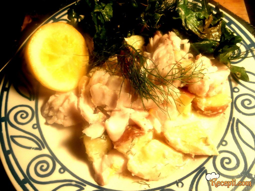 Riba i povrće na pari