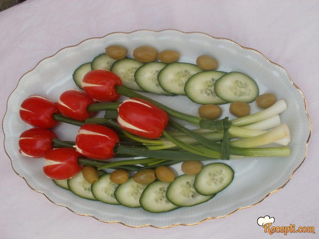 Jestivi buket tulipana