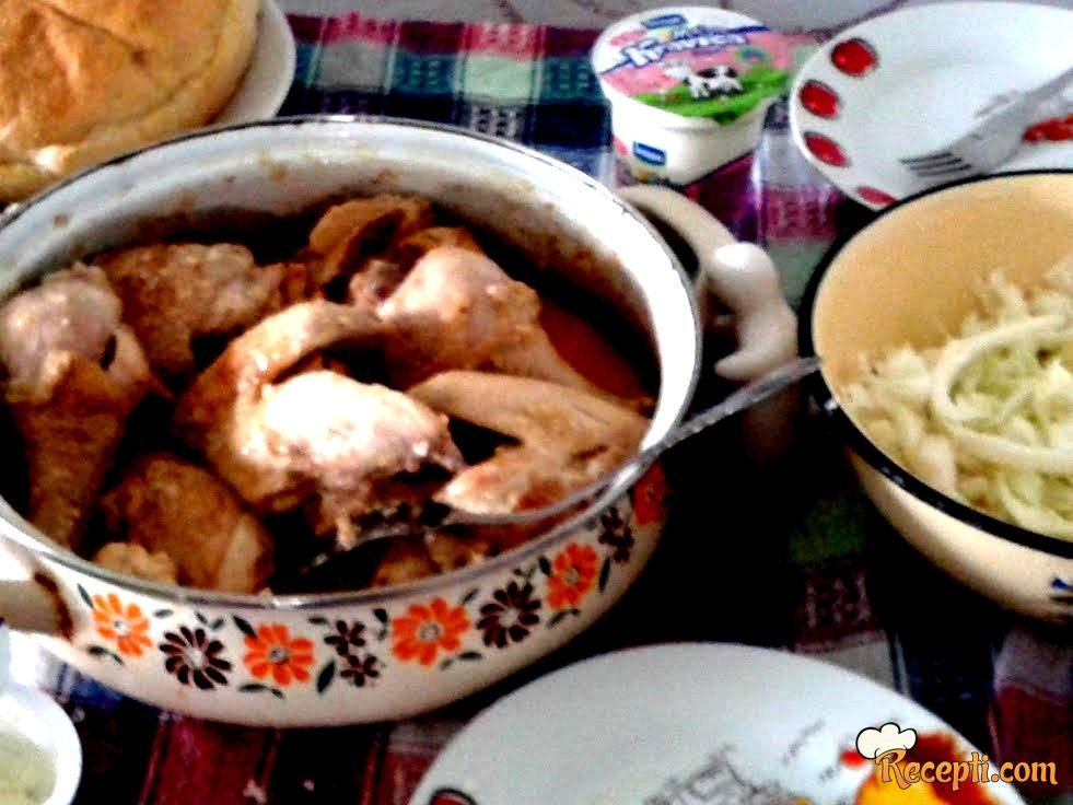 Piletina sa pavlakom i sitnim sirom