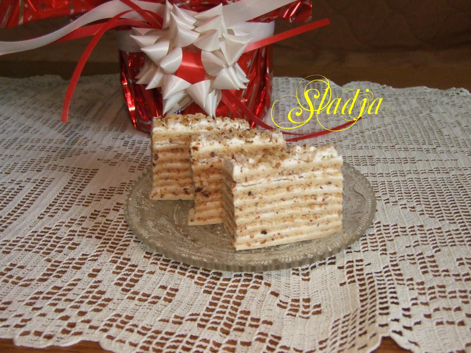Posna lešnik torta (3)