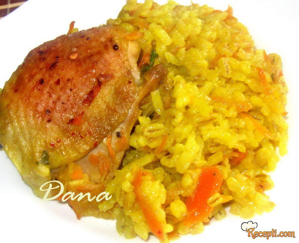 Piletina sa pirinčem i geršlom