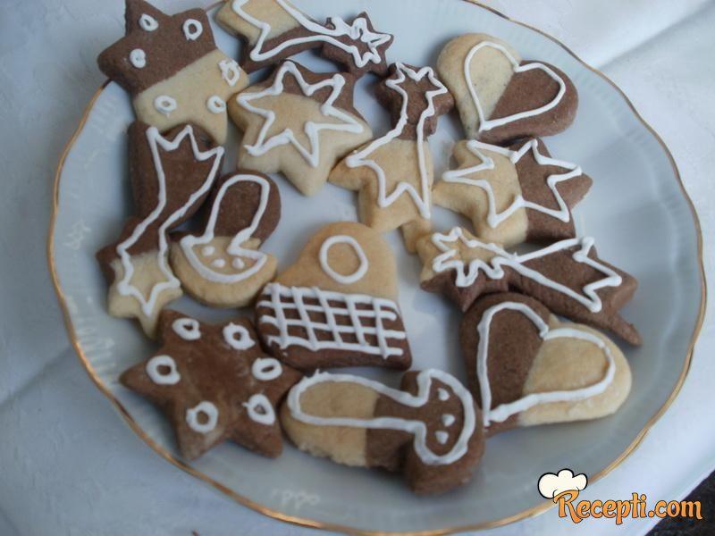 Dvobojni božićni keksići