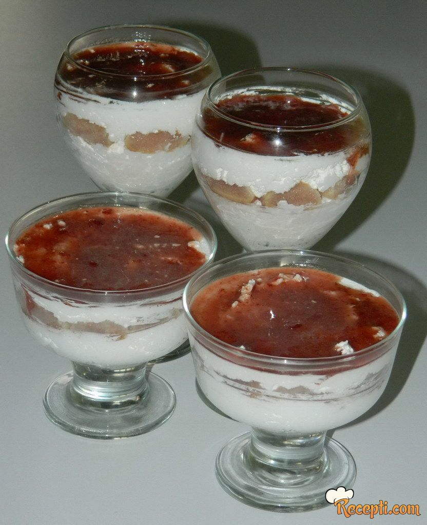 Ledeni desert u čaši