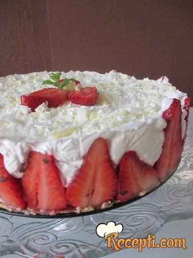 Mint torta sa jagodama