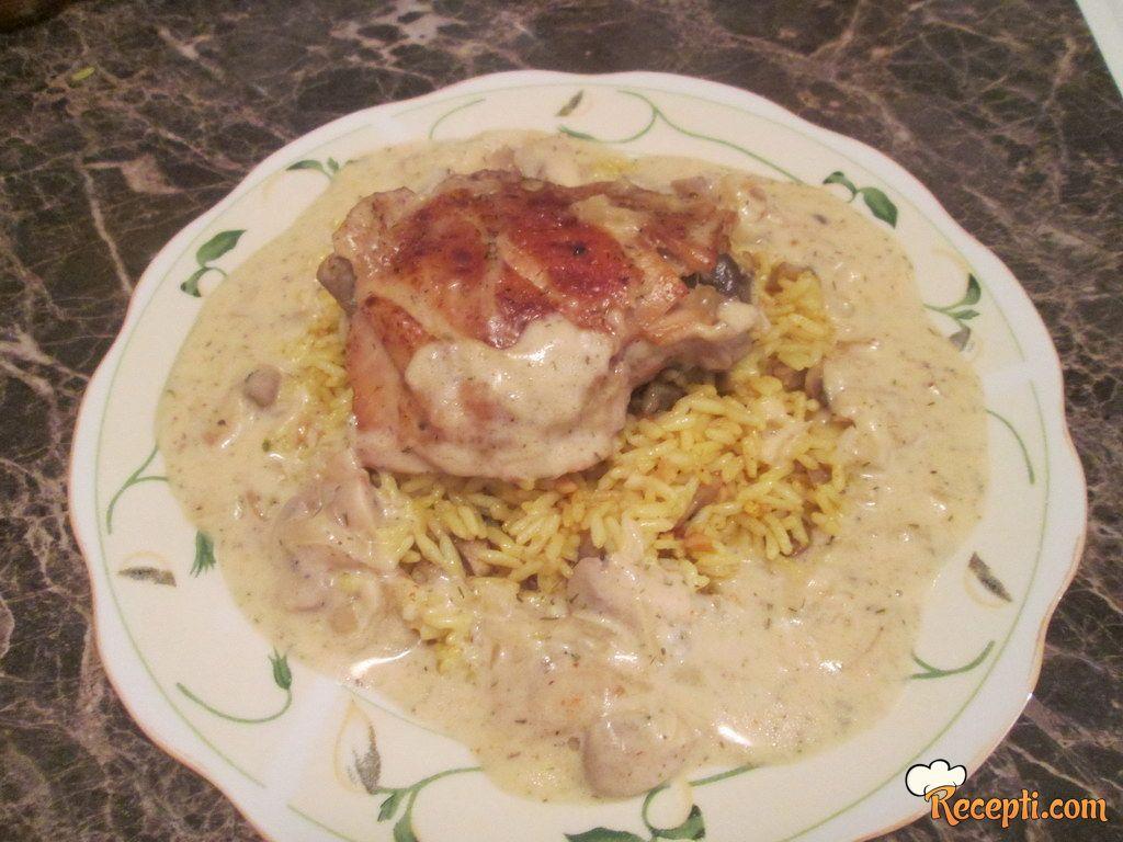 Piletina u sosu od đumbira