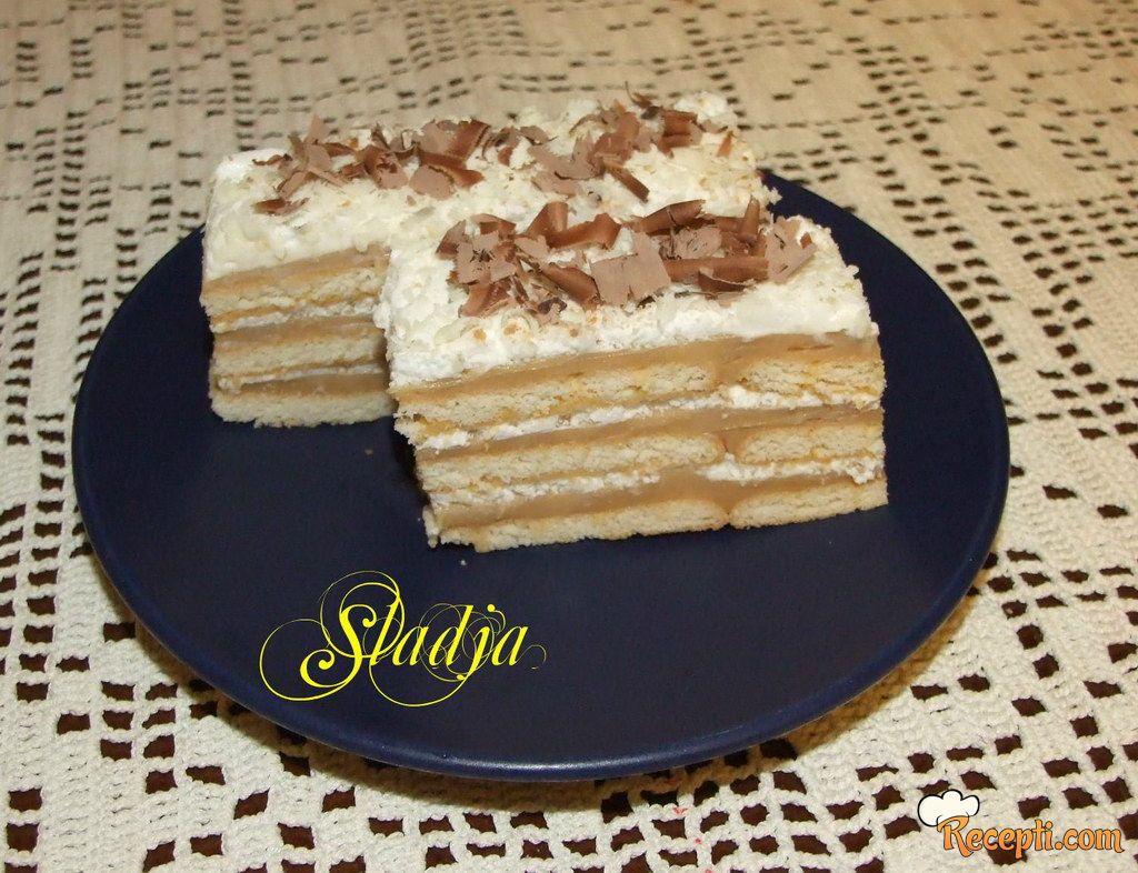 Keks karamel torta