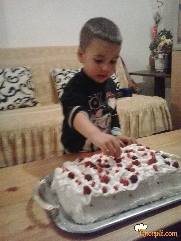 Posna voćna torta :)