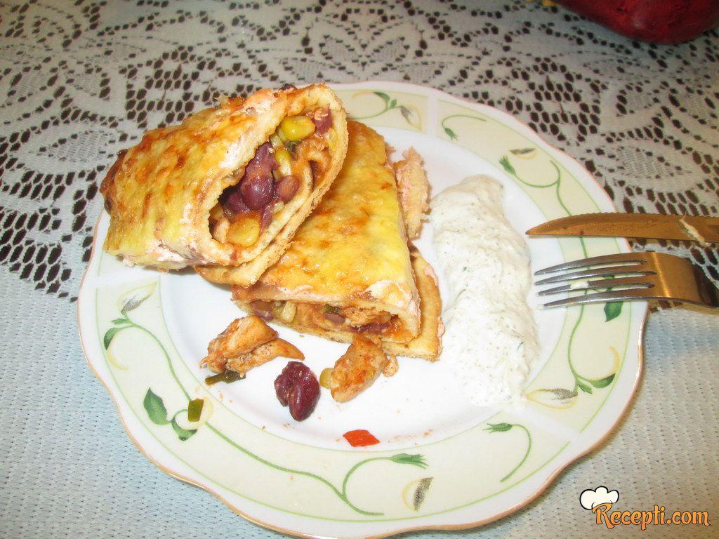 Tortilje sa piletinom i domaćim tartar sosom