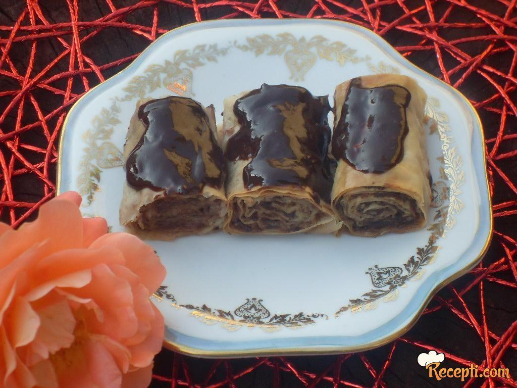 Lešnik-baklavice sa čokoladom