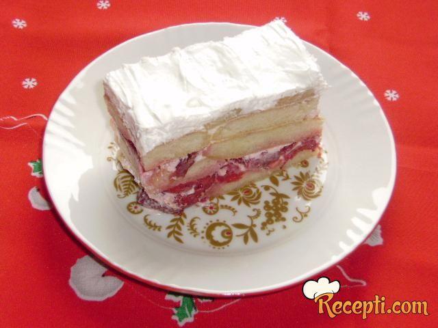 Voćna torta sa piškotama
