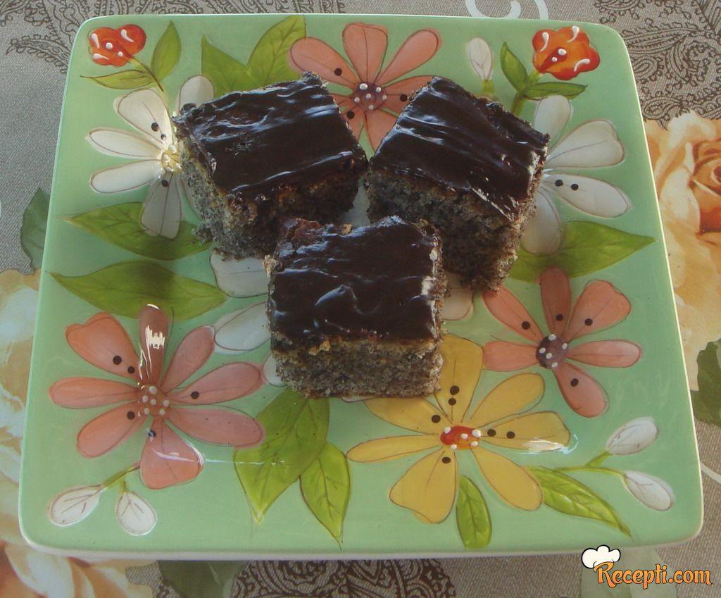 Brzi čokoladni kolač sa makom