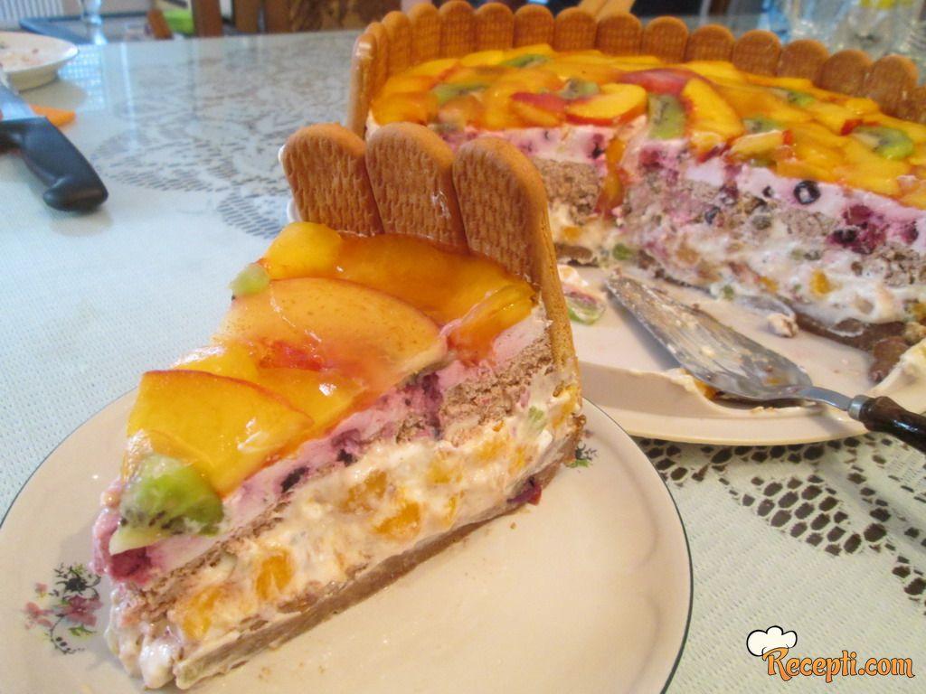 Voćna lešnik - plazma torta
