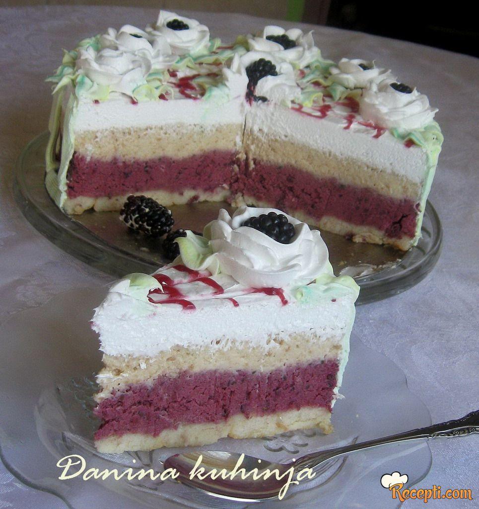Brza torta sa kupinama