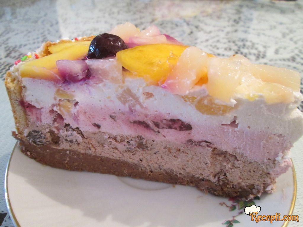 Kremasta voćna torta