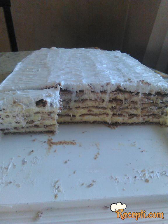 Torta sa turskim keksom i pudingom