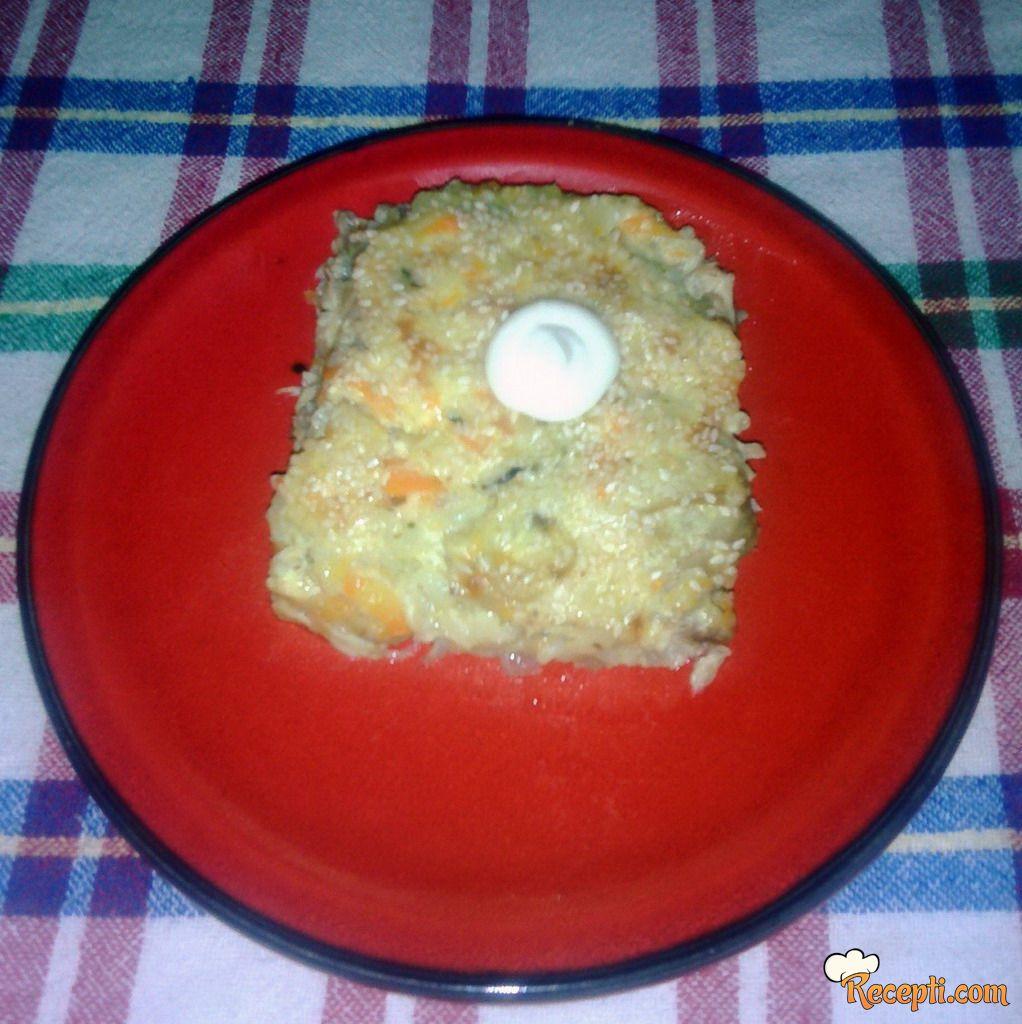 Pilav sa jajima i pavlakom