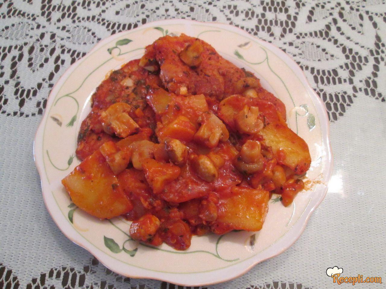 Svinjske šnicle u paradajz sosu
