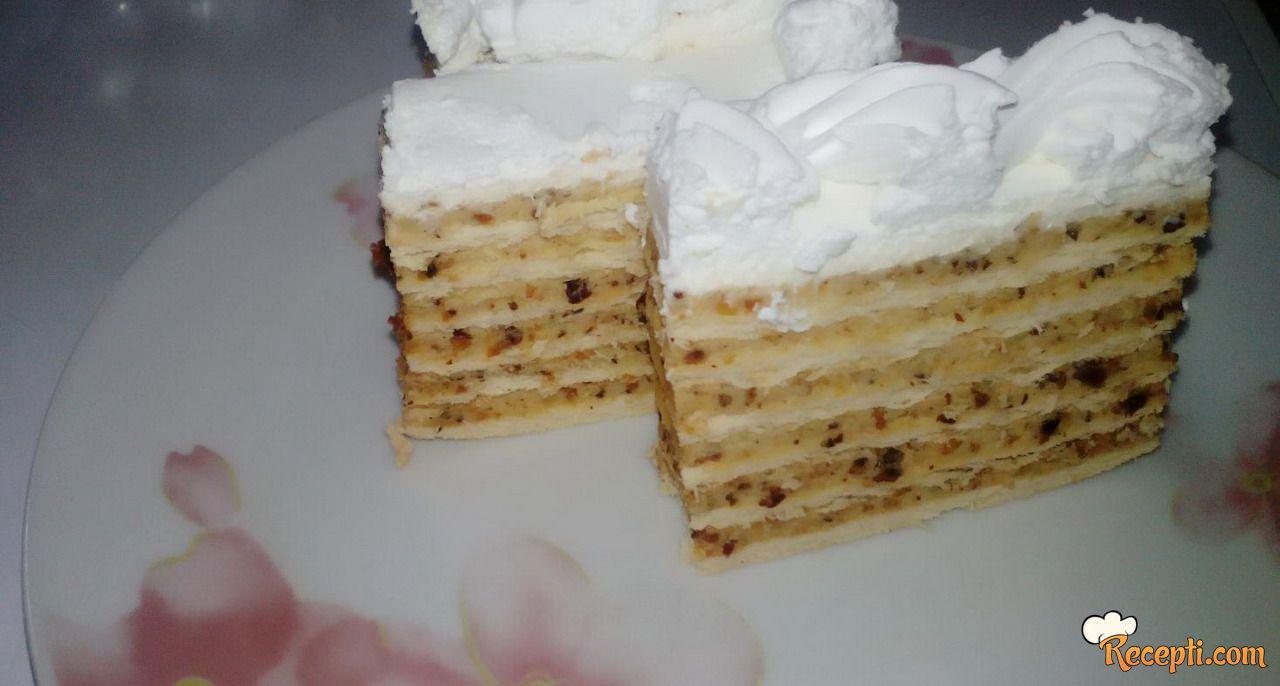 Lešnik torta (posna)
