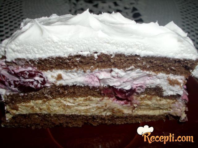 Voćna torta sa kiselom pavlakom i plazmom