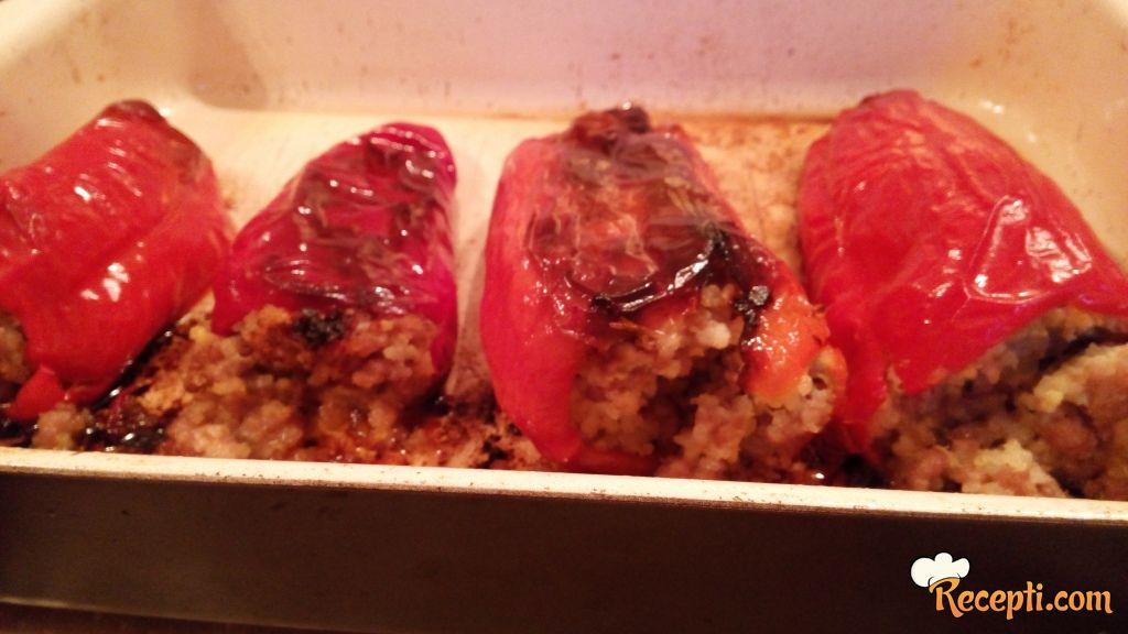 Punjene paprike - proso, pirinač, mleveno meso