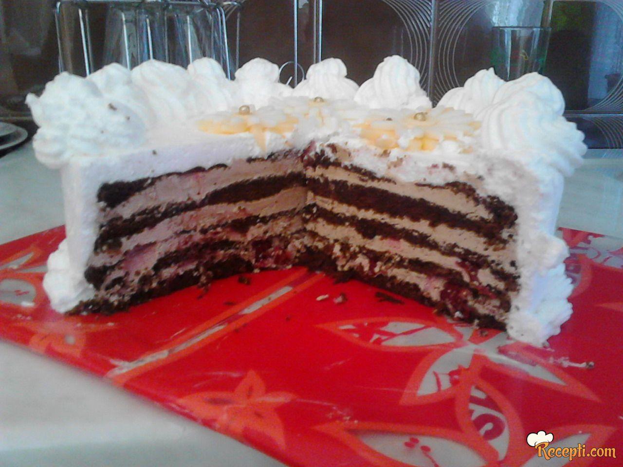 Čokoladna torta sa višnjama (4)