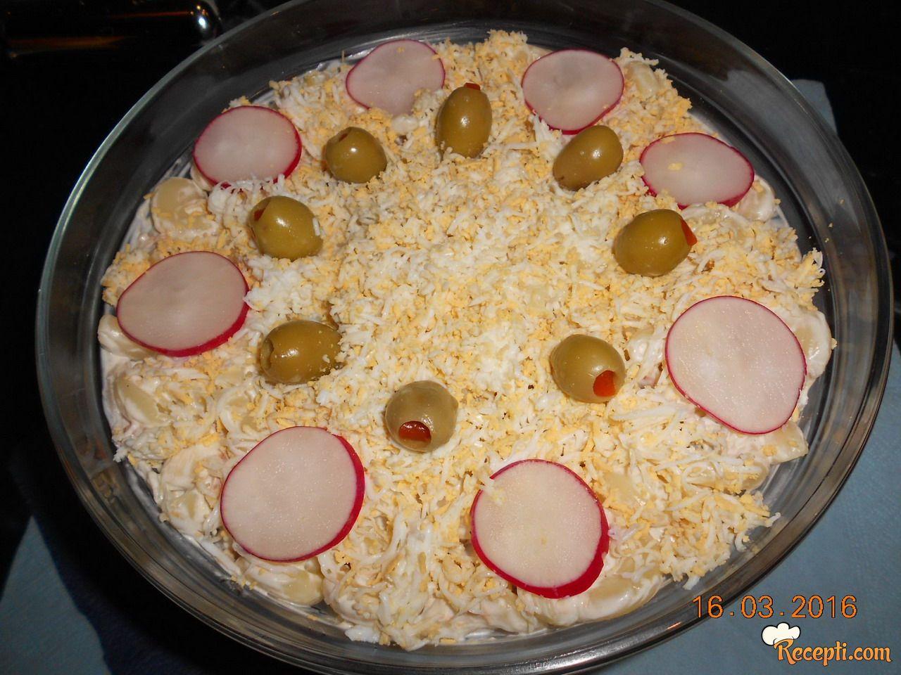 Pileća salata sa makaronama