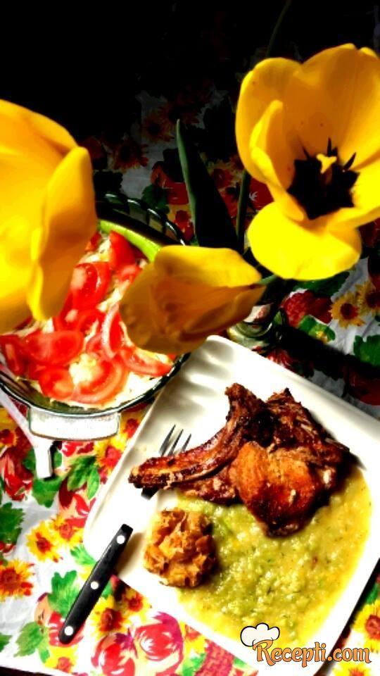 Ćuspajz od kelerabe, brokolija i tikvica