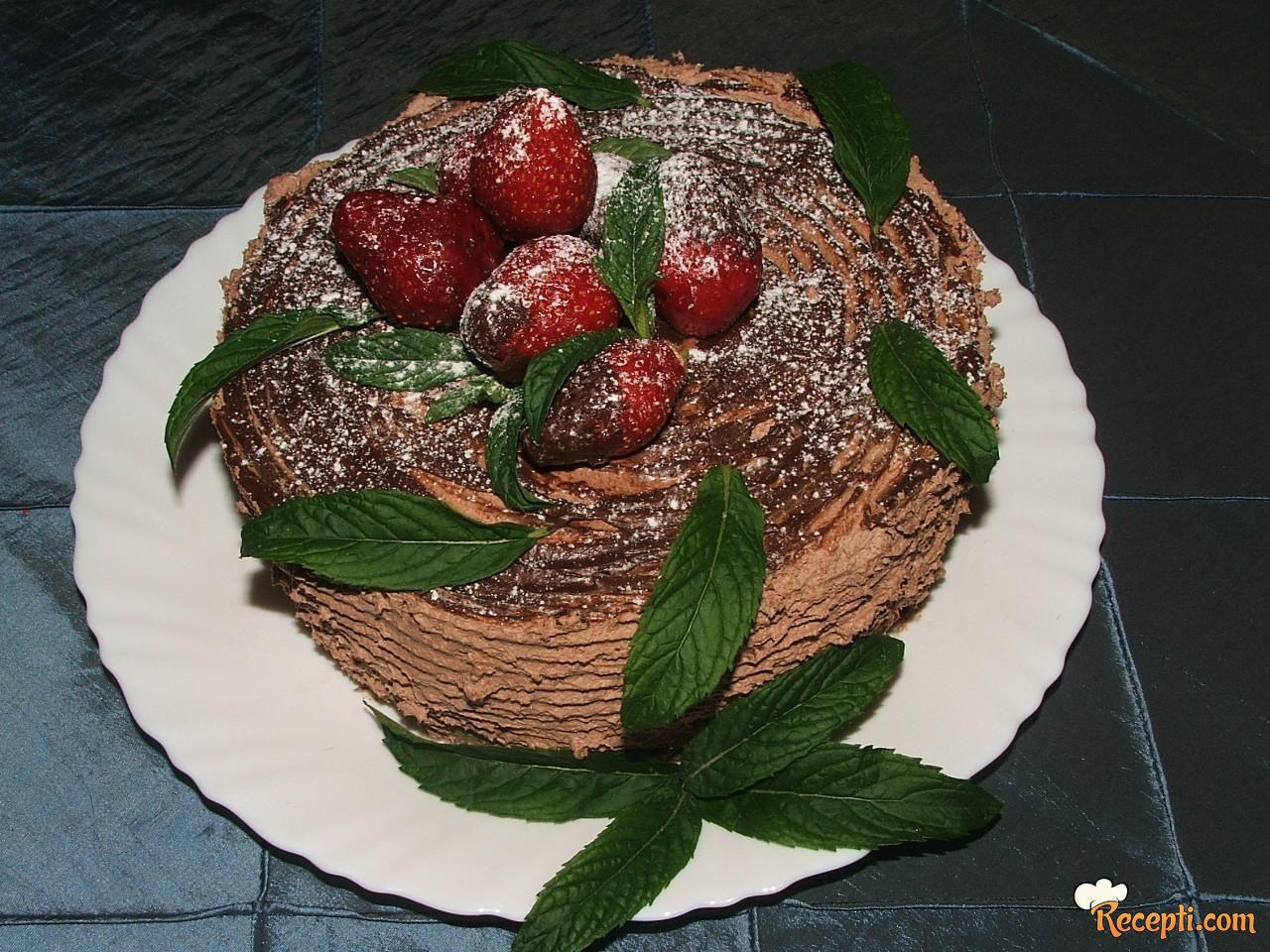 Čokoladna parfe torta