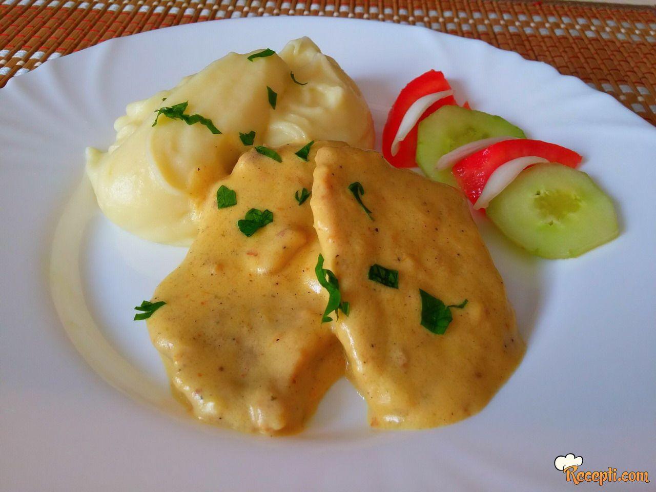 Šnicle u sosu od pavlake i senfa