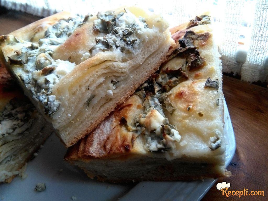 Lisnati prepec sa blitvom i sirom