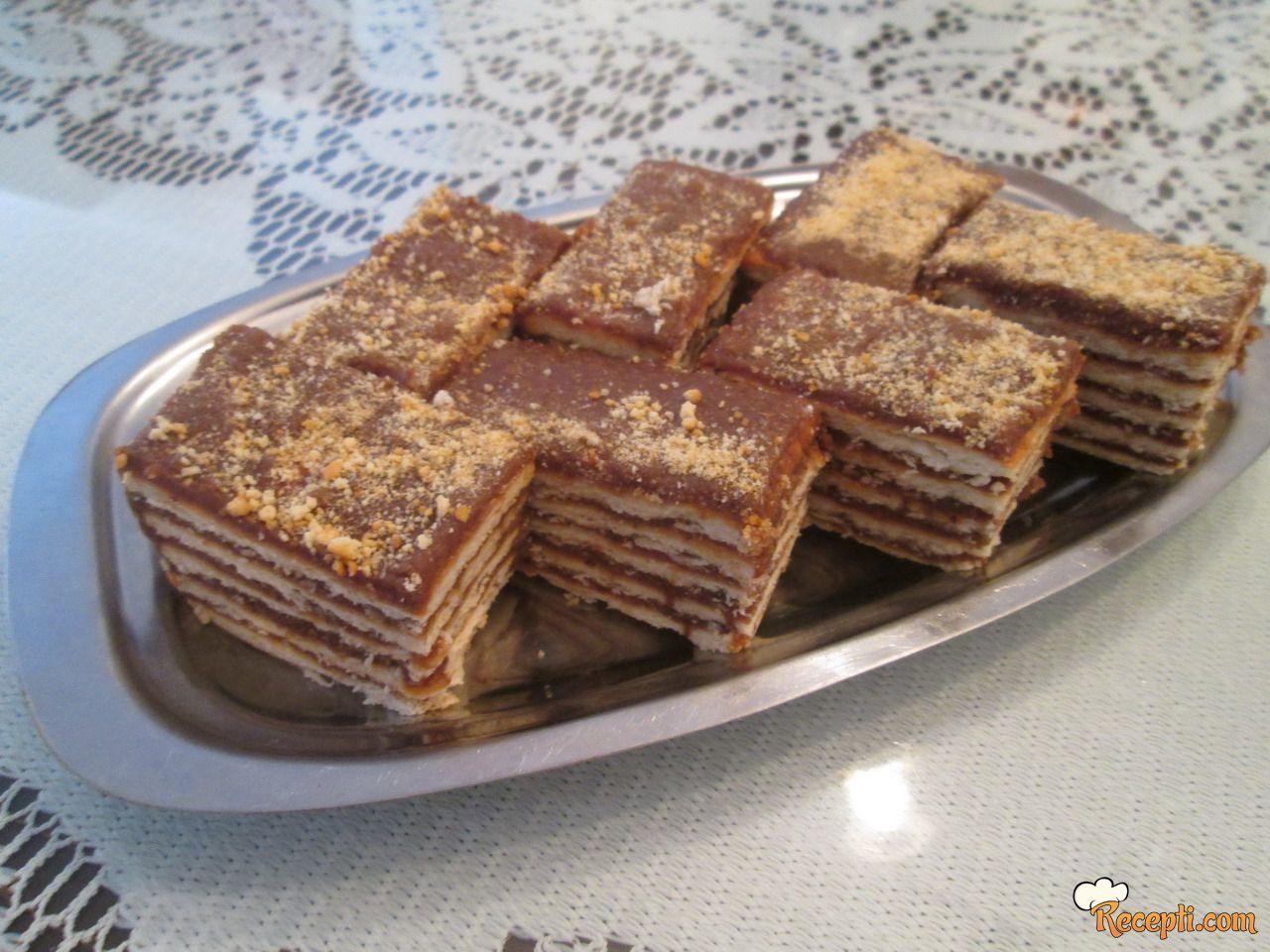 Čokoladne kocke sa keksom