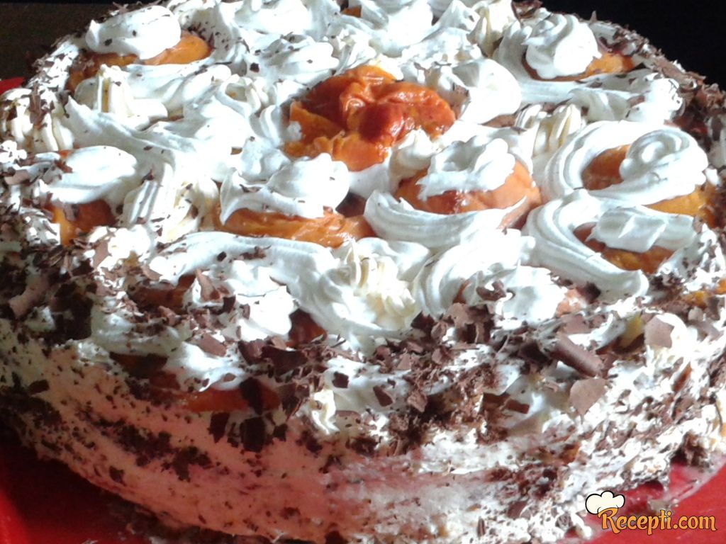 Lagana torta od kajsija