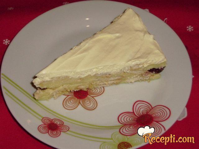 Vanila keks kolač sa višnjama