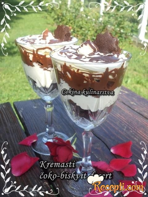 Kremasti čoko - biskvit desert