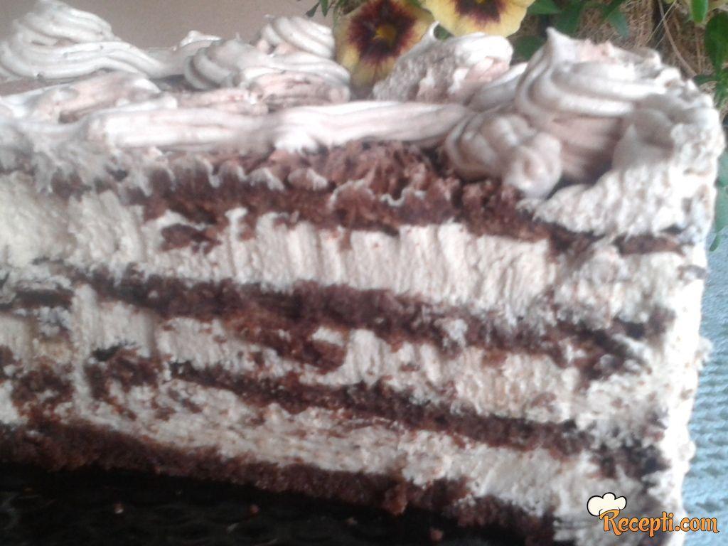 Karamel čokoladna torta - bez brašna