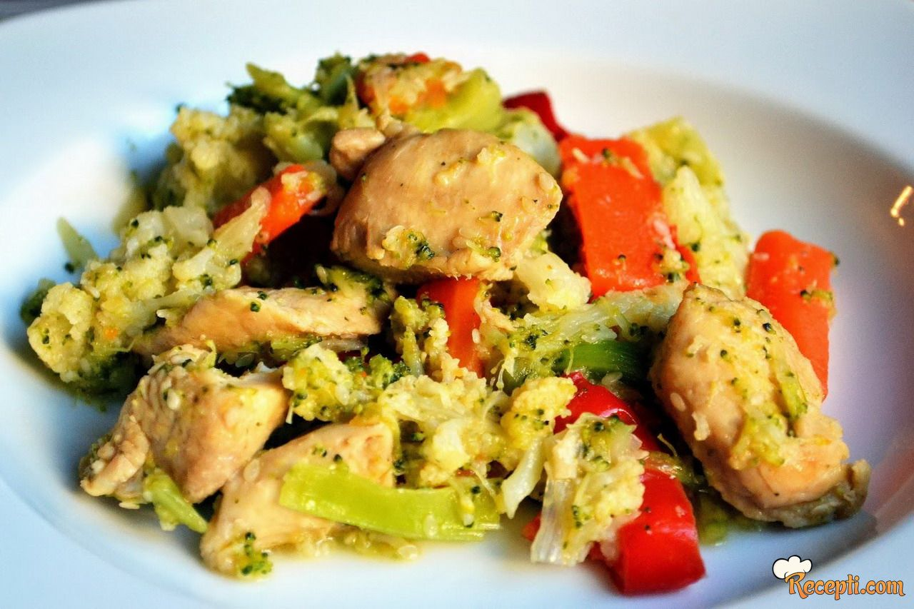 Piletina s povrćem