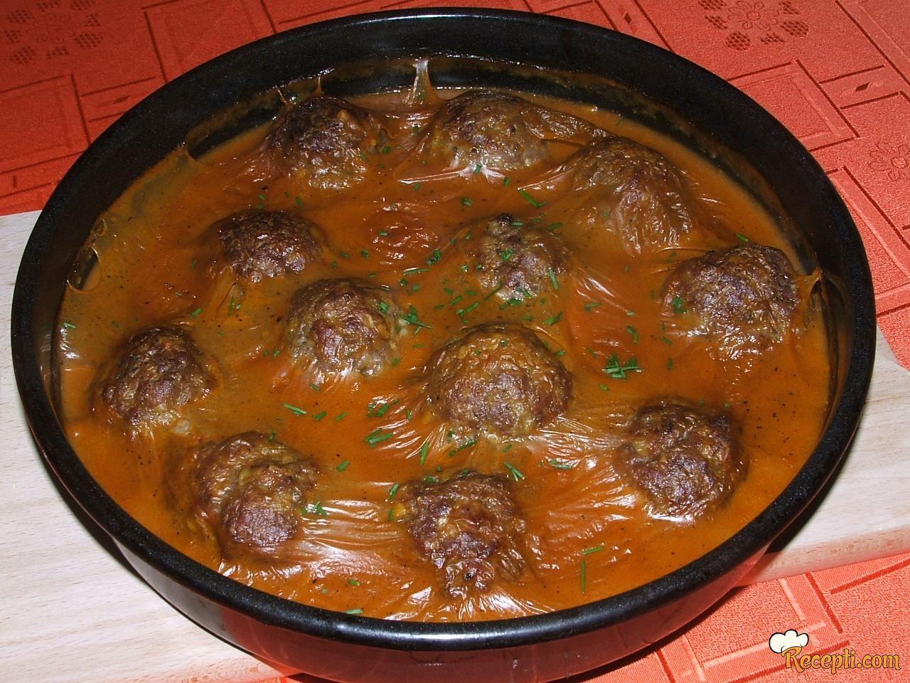 Ćuftice u zapečenom sosu