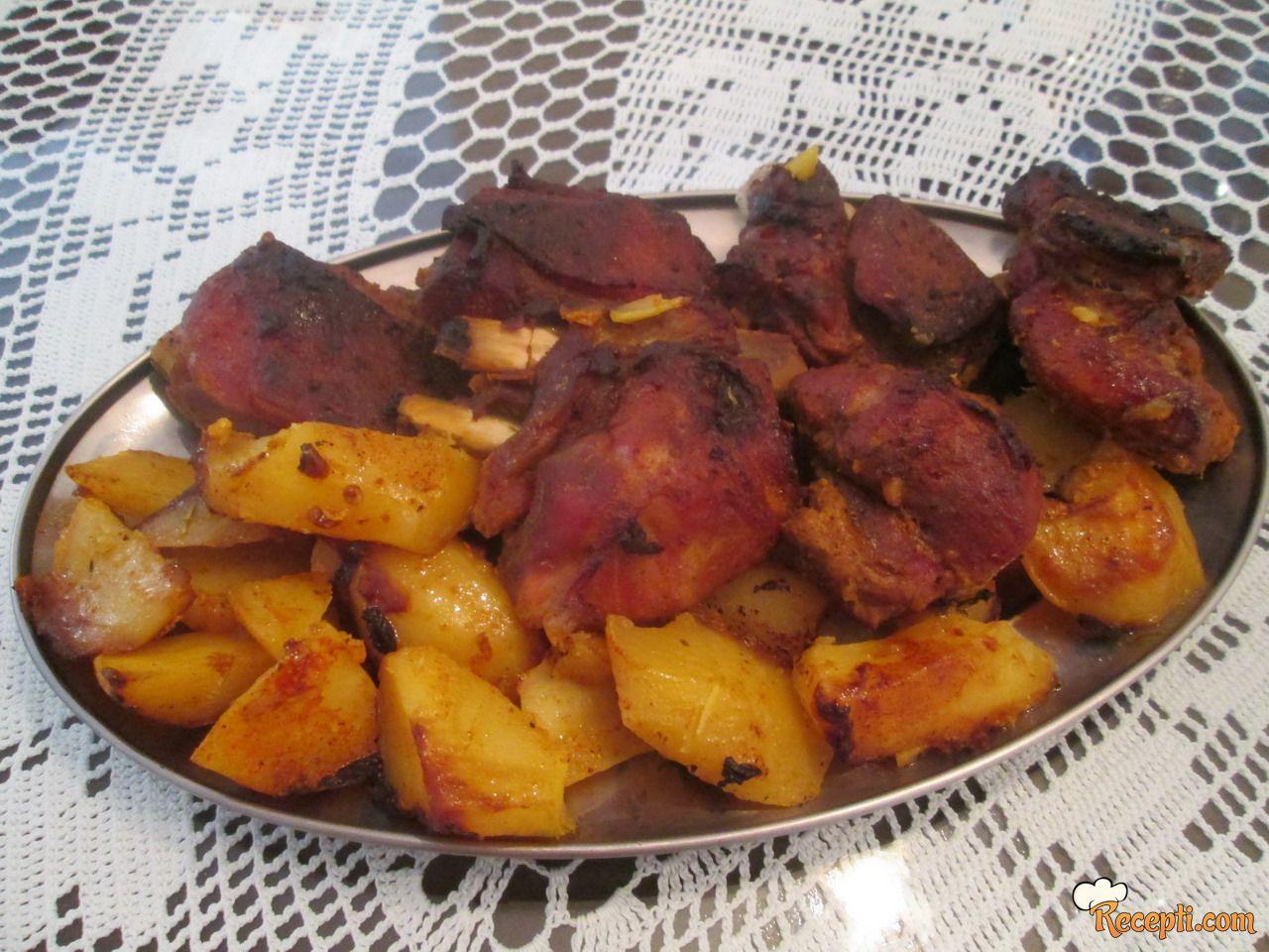 Pečena carska rebra sa krompirima