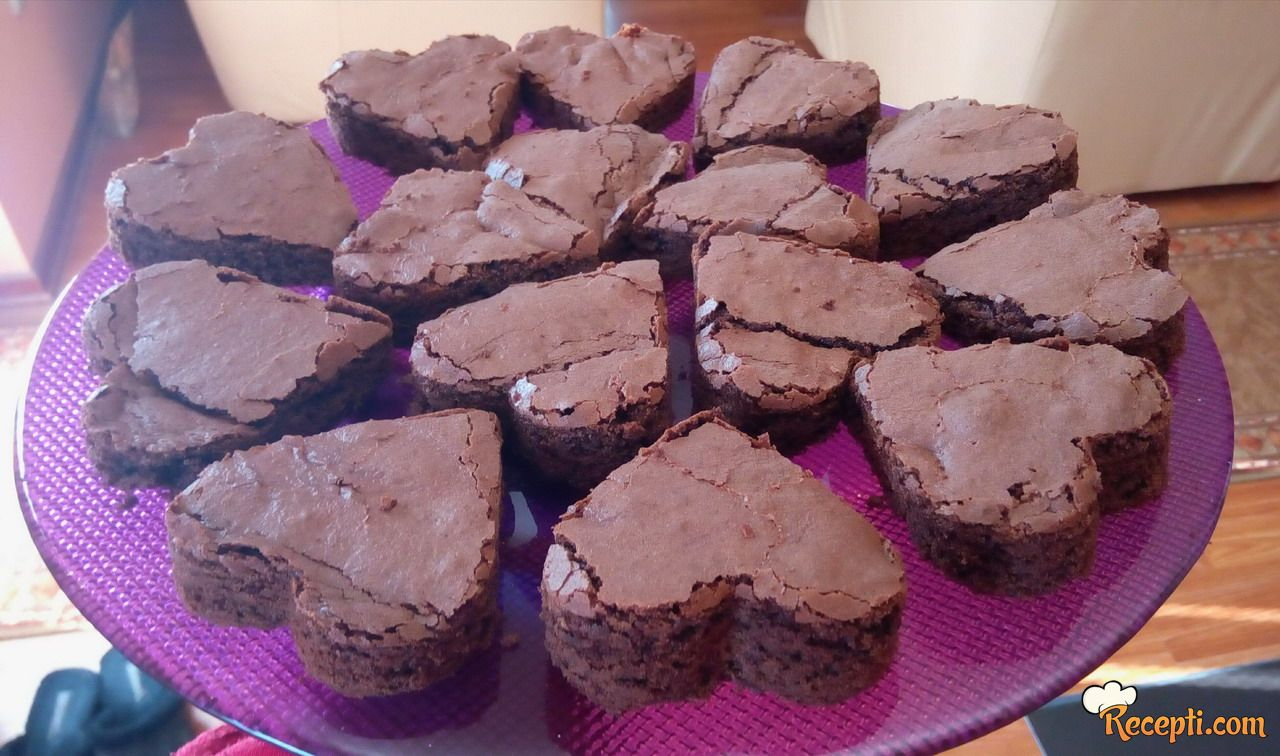 Brownies u obliku srca